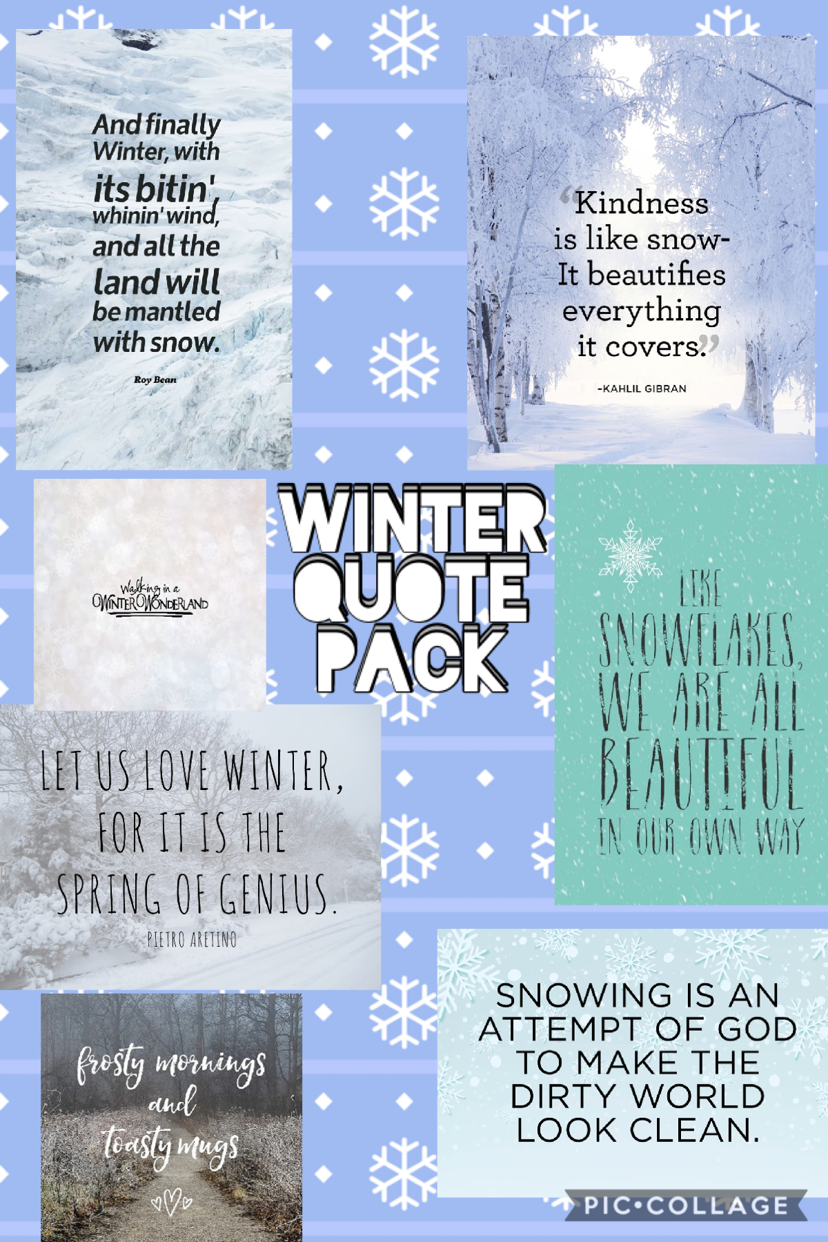 Winter Quote pack! Hope you enjoy them!!  PLEASE give credit if used!!🙂💕 Have a great day!!