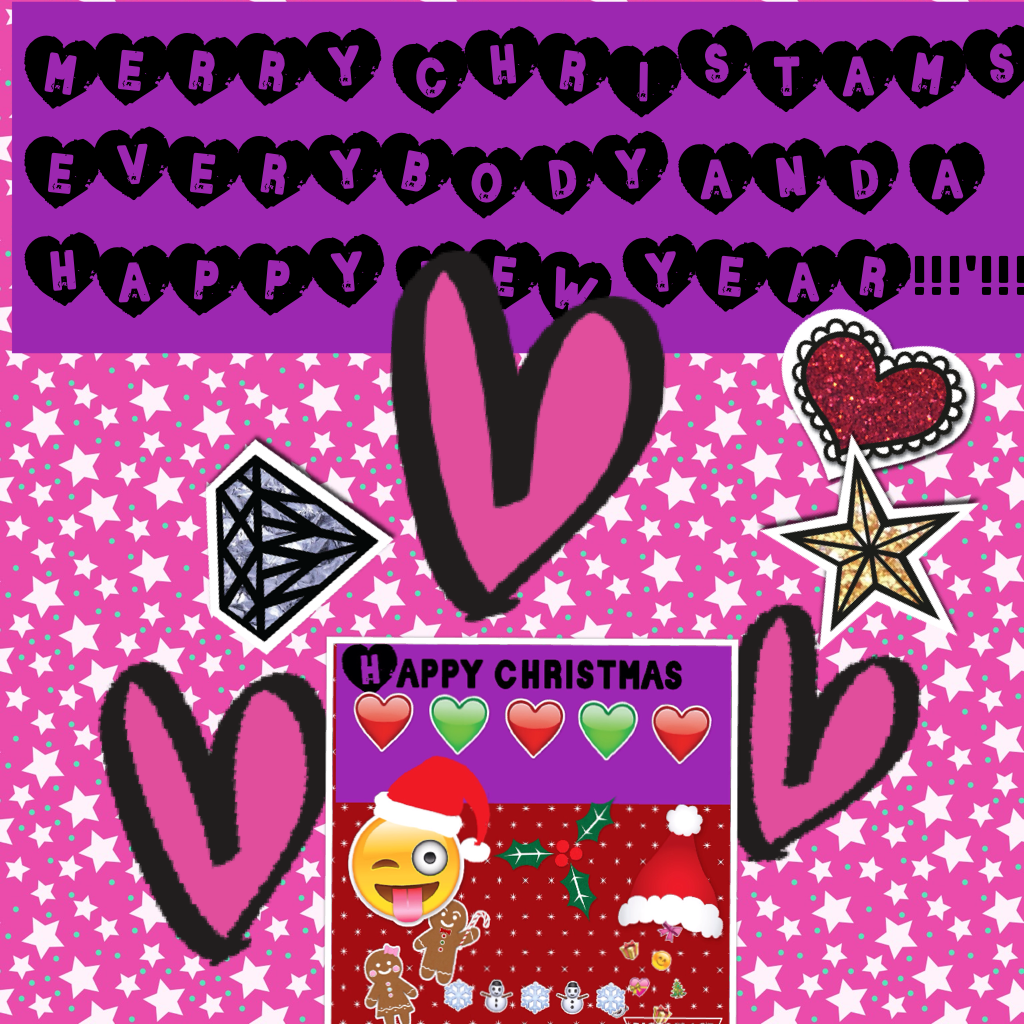 MERRY CHRISTAMS EVERYBODY AND A HAPPY NEW YEAR!!!'!!!!!!!!!!!