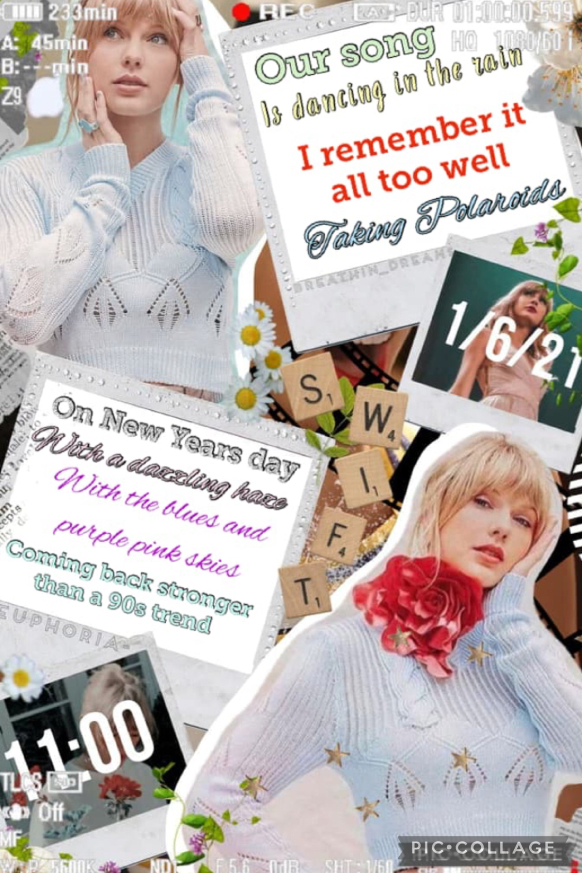 Taylor Swift collage and collab with Euphoria