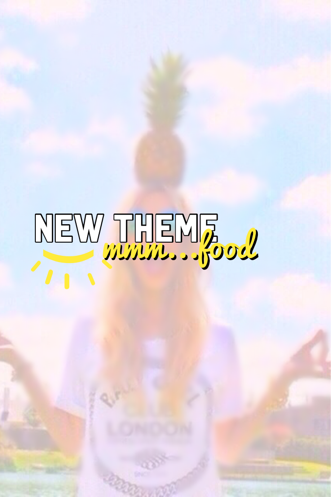 Brand new theme is food!