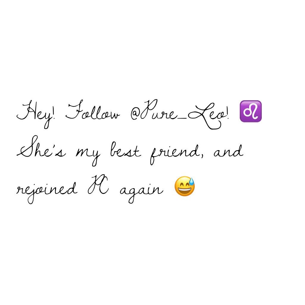 Hey! Follow @Pure_Leo! ♌️