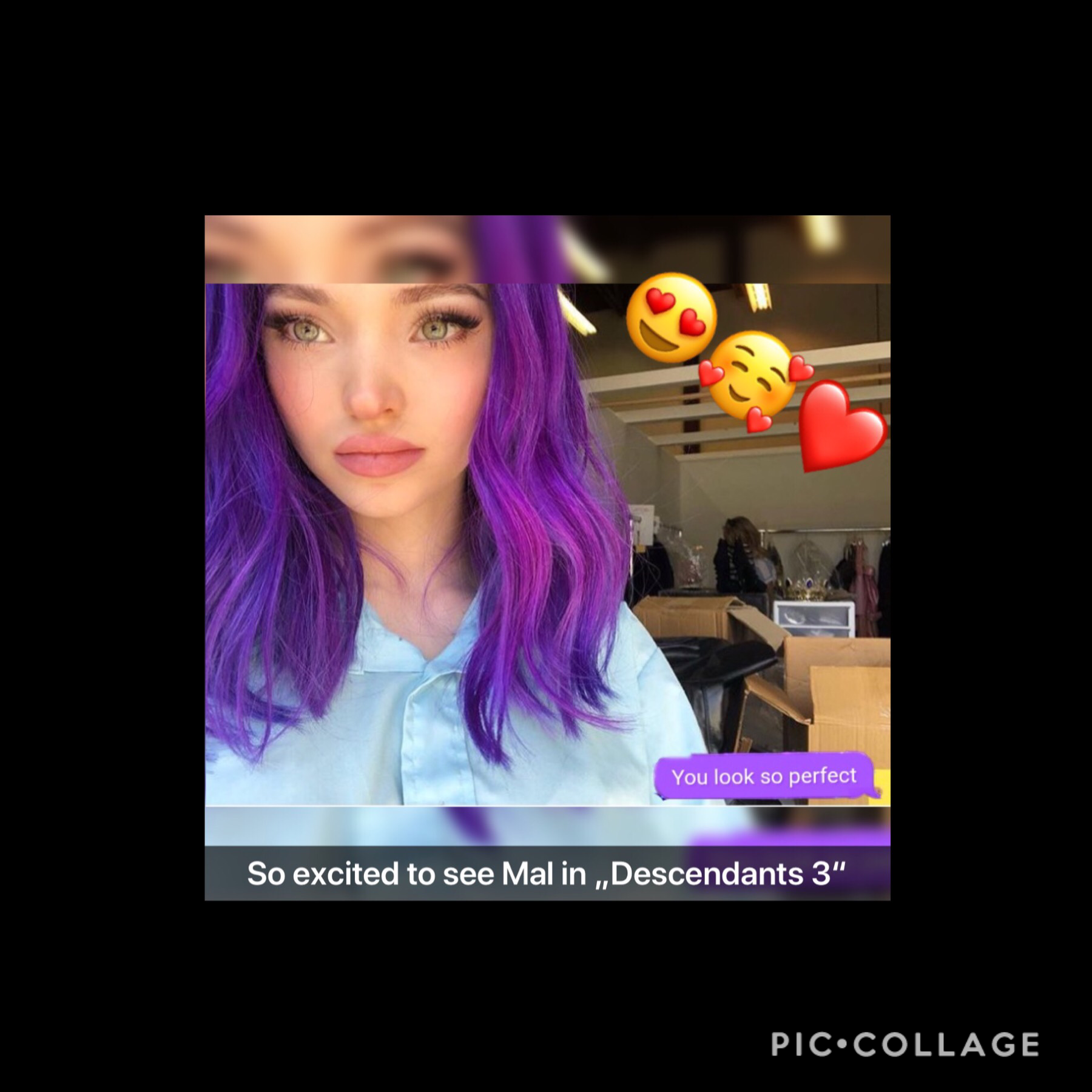 I'm back and so excited to see Mal in Descendants 3 😍😍