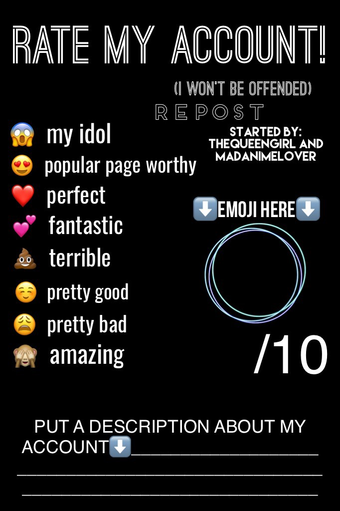 ⬇️Tap⬇️ Leave you personal opinion?😳 Love You Guys😚