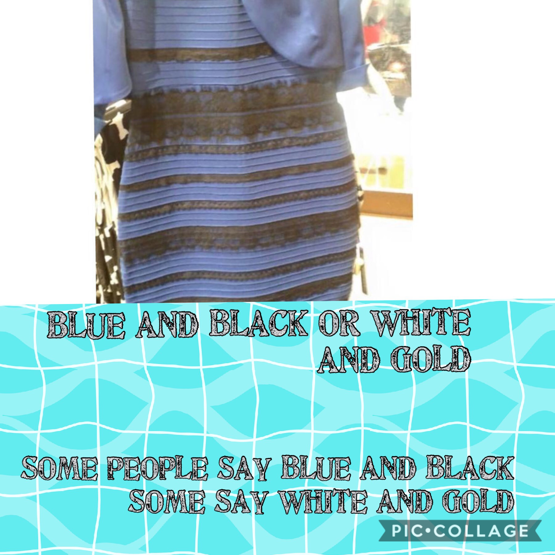 I see white and gold