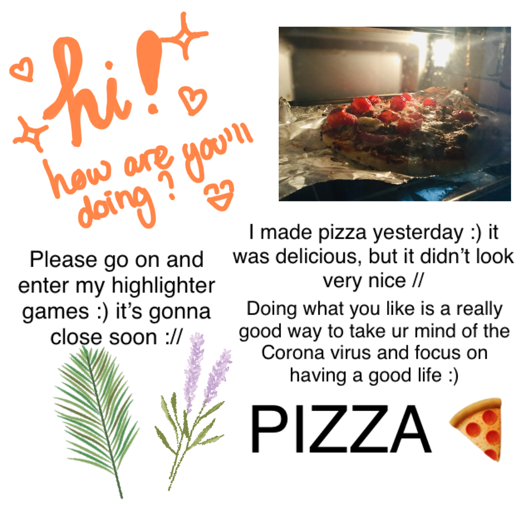 Yay! I luv pizza :) does any of u also like pizza? If u do, comment a 🤤🍕