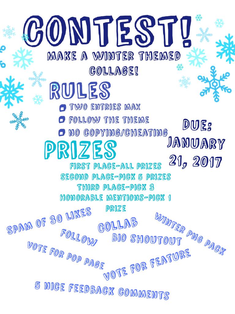 Contest!! Please enter!
