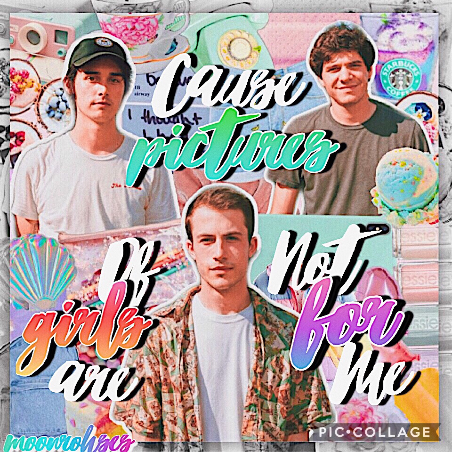 🏳️🌈 t a p 🏳️🌈  Happy Pride month!!  Also Eid Mubarak to those Muslims on pc!💞   I absolutely love this collage (for once) and I love Wallows so so much!   Rate?/10