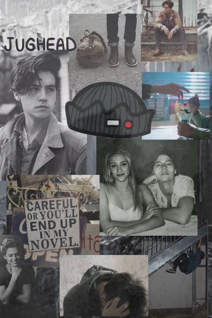 New theme (1/21/18) Jughead Jones  Tags- prisally piccollage collge scraps feature black and white doodle riverdale
