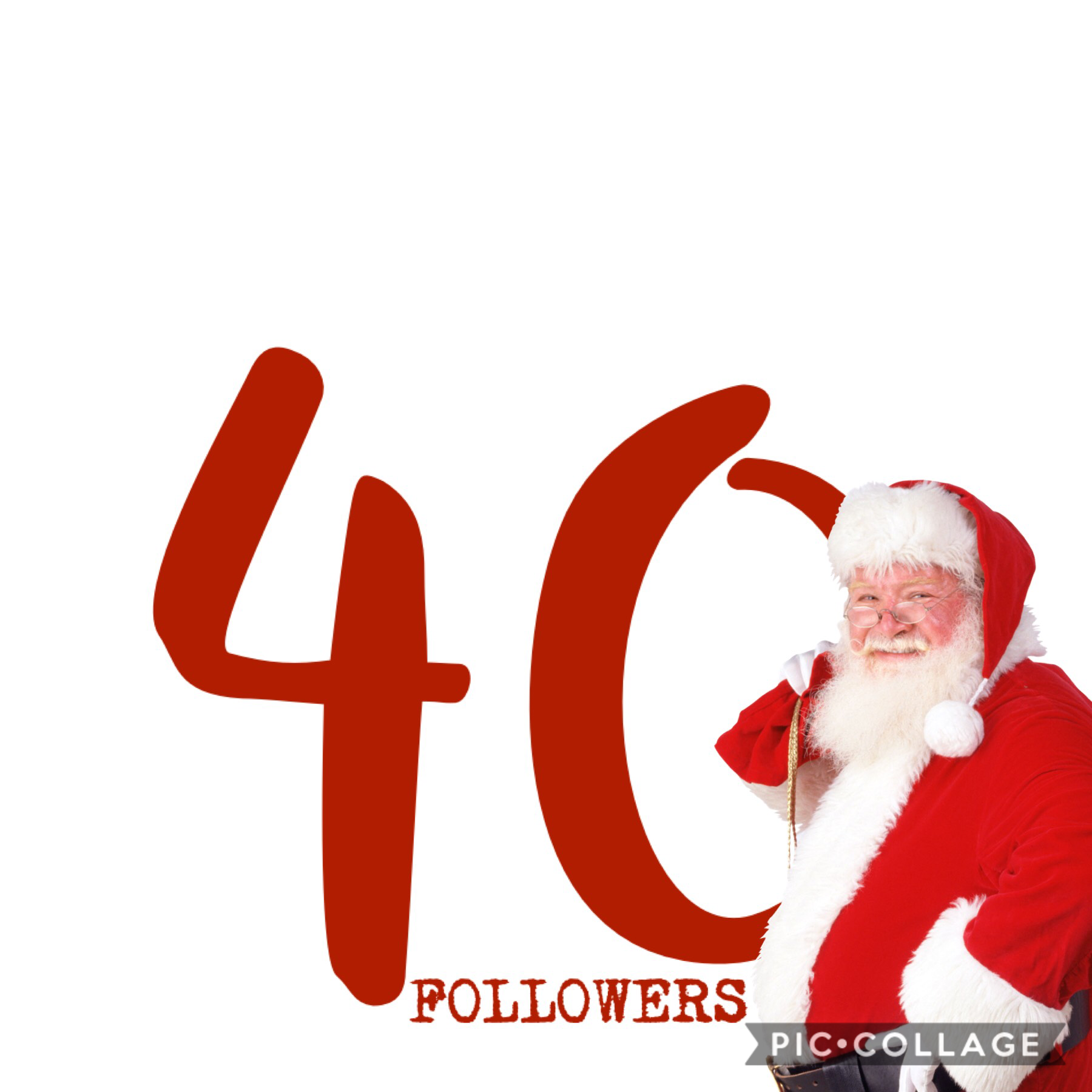 thank you so much for forty followers. It's amazing I've gotten to this point on a small collage account. I'm literally dumbfounded right now. I wish you all the merriest, most meaningful Christmas you've ever had. If you don't celebrate Christmas, happy