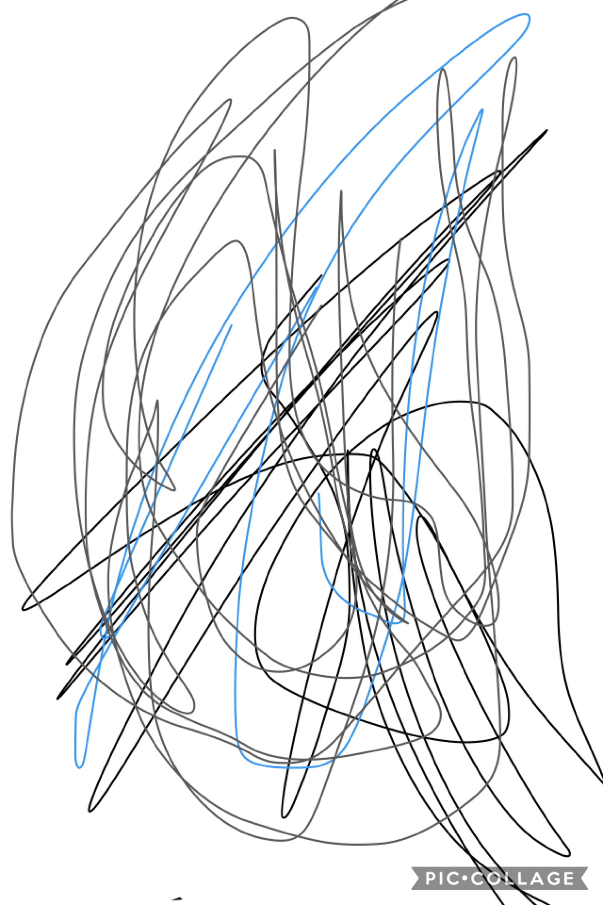 My little sister was playing on my phone and this is what she did she is only 2 and I think she needs some love on her drawing