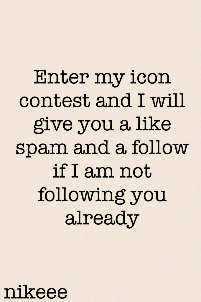 Plz enter it coz I feel like we can have more and more entries by other ppl to see how wonderful they do icons for contests!!🤗🤗😝🤗