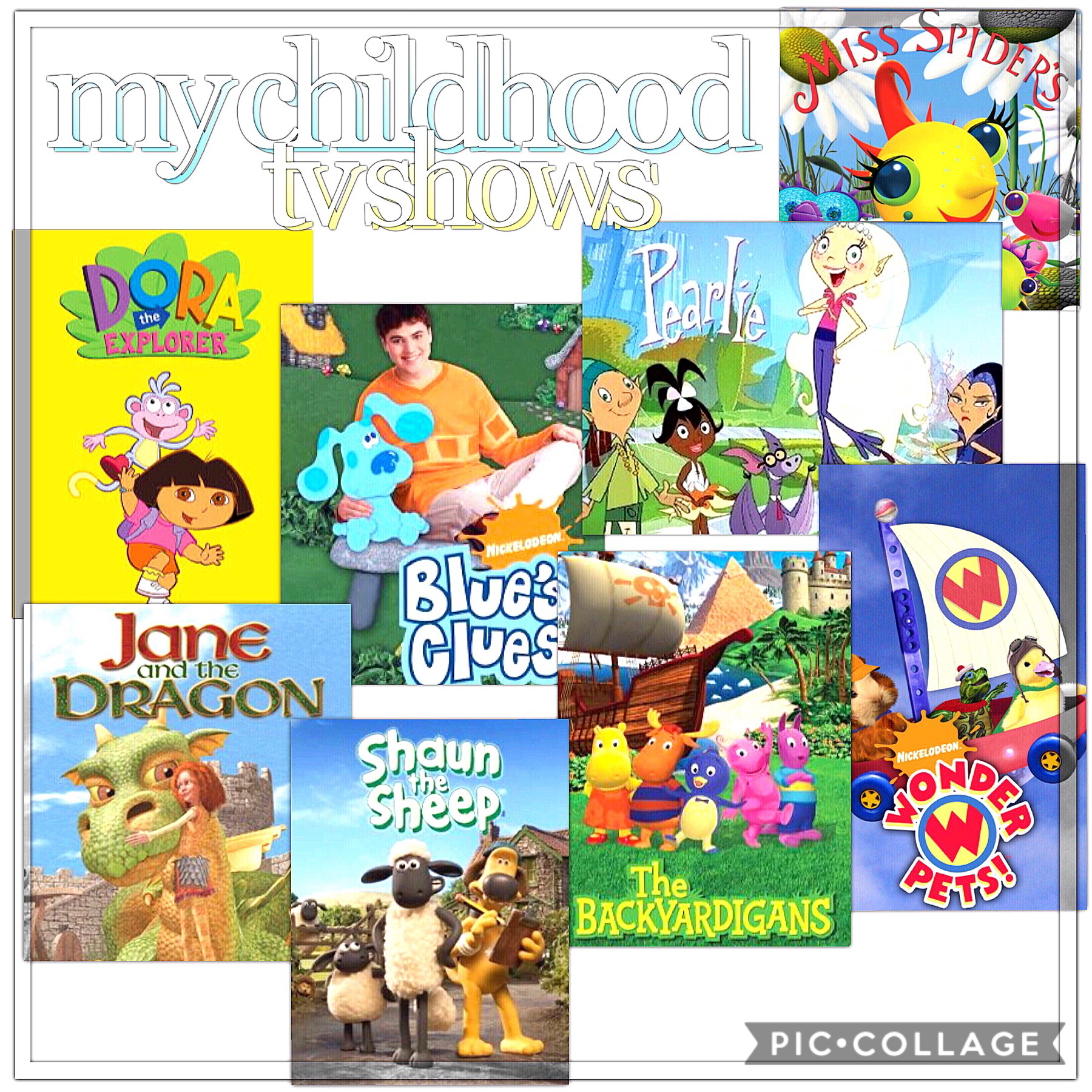 inspo: calz💛 here are the shows of my early childhood! comment what yours were!