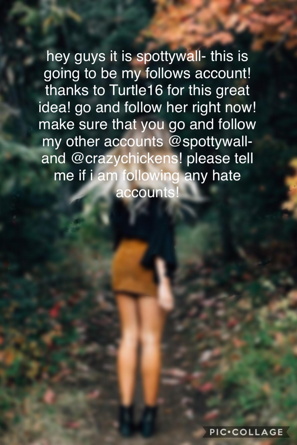 I follow everyone🥰