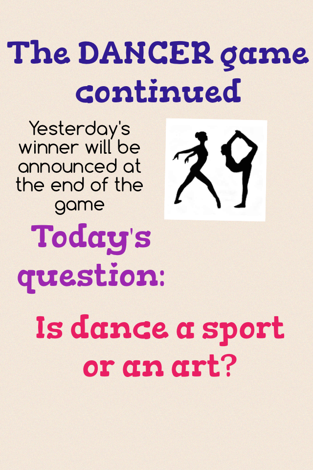 is dance a sport Dance is both an art and a sport the definition of a sport is: an activity with rules or customs engaged in competitively, so only competetive dance should be considered sport other forms of dance are considered performance art.