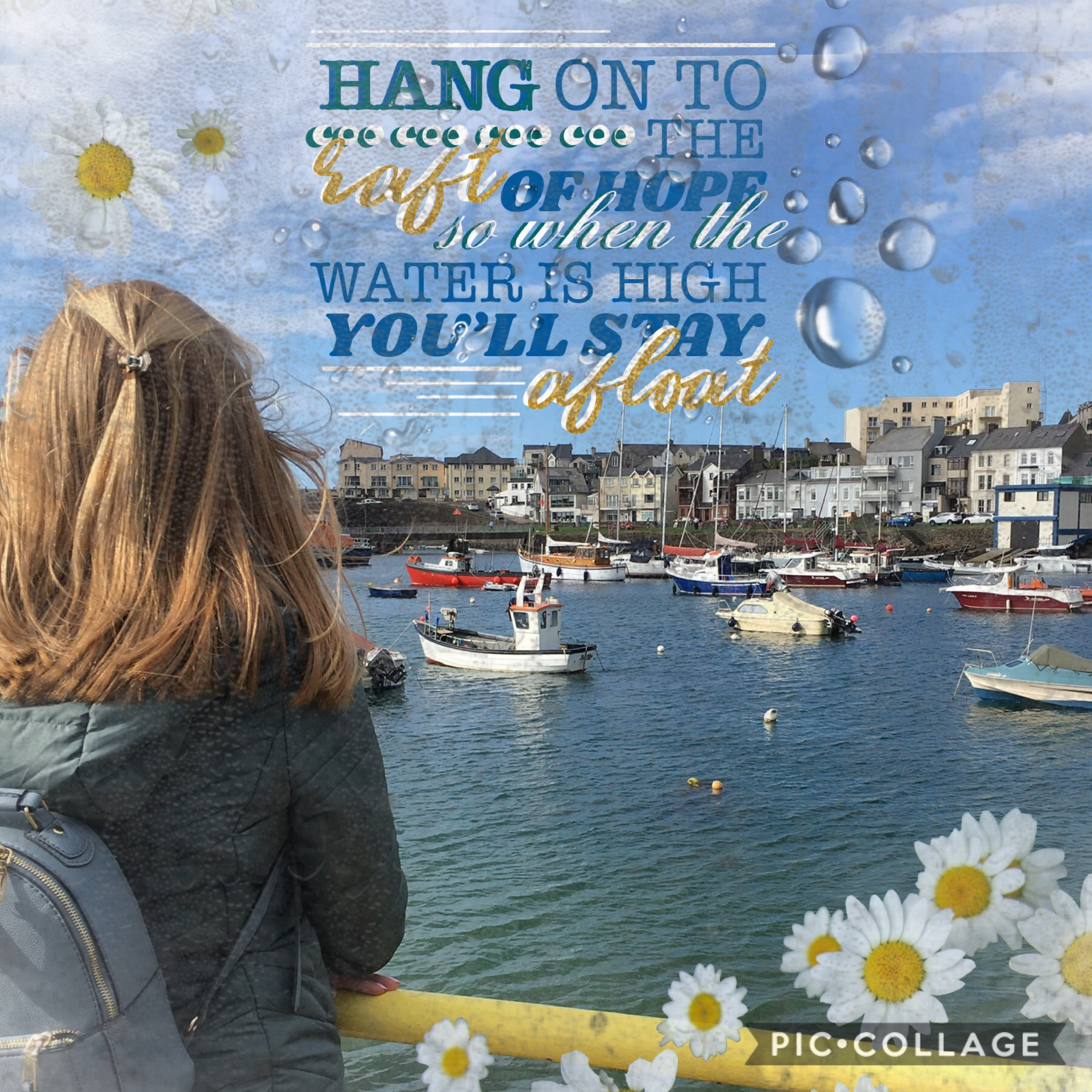 Inspired by gatheringblue ❤️her collages are all amazing!! shoutout to queendom_, sakuracat and WUNDERLUST from my contest check them all out 💗I used my own photo for this 😂❤️love this place! Hands up who else loves the sea🙌🏻This is just a quick collage a