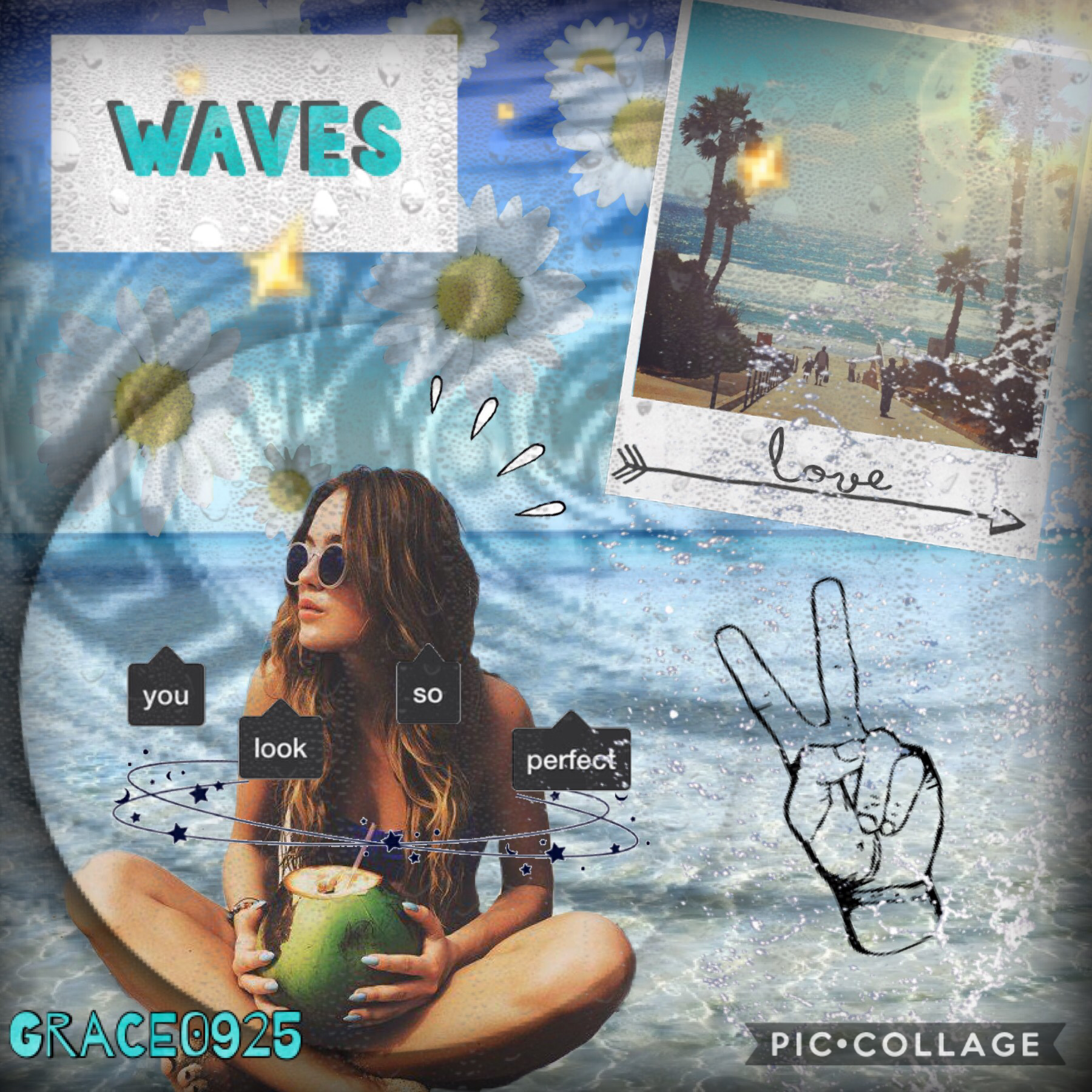 🌸🏝🌼💧tap💧🌼🏝🌸  Heyyyyy  Just ur classic beach pic...  I'm trying something new -Grace0925🌻🥀