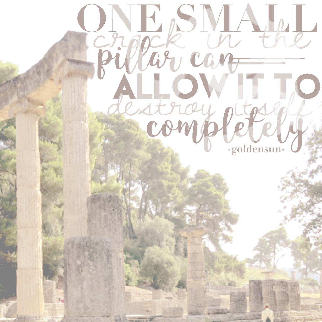 Click Here How is it? I took the photo in Olympia, Greece! It's also my own quote! Rate it out of 10!!
