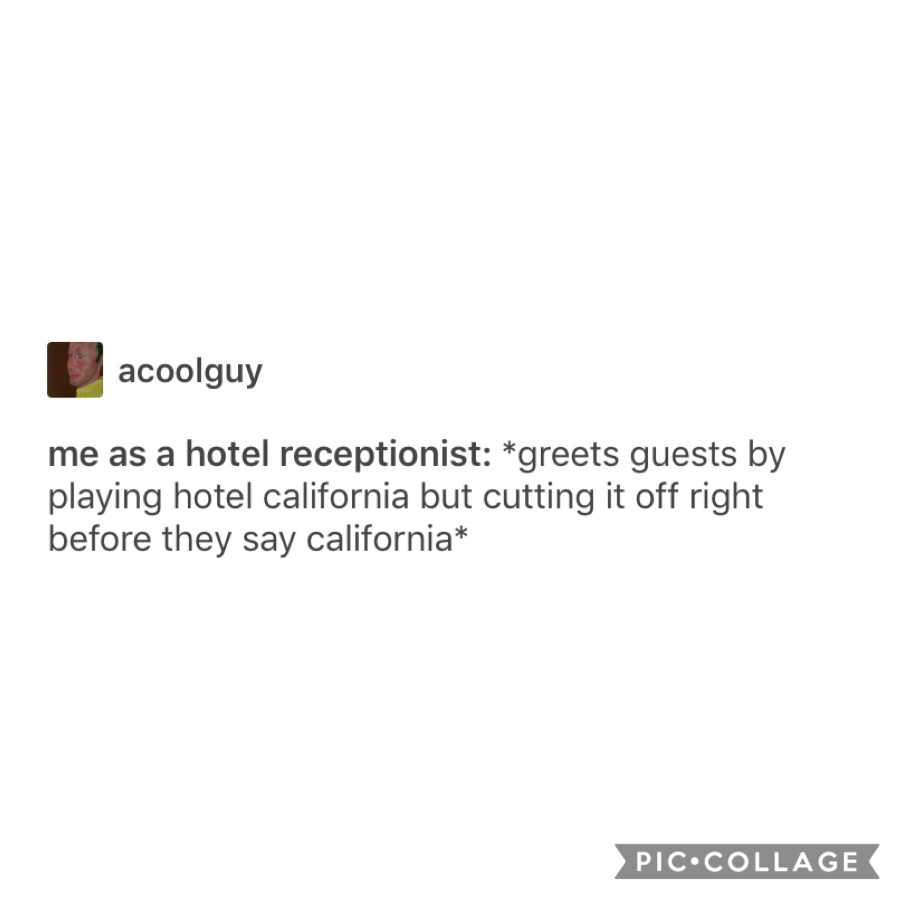 Welcome to the hotel-