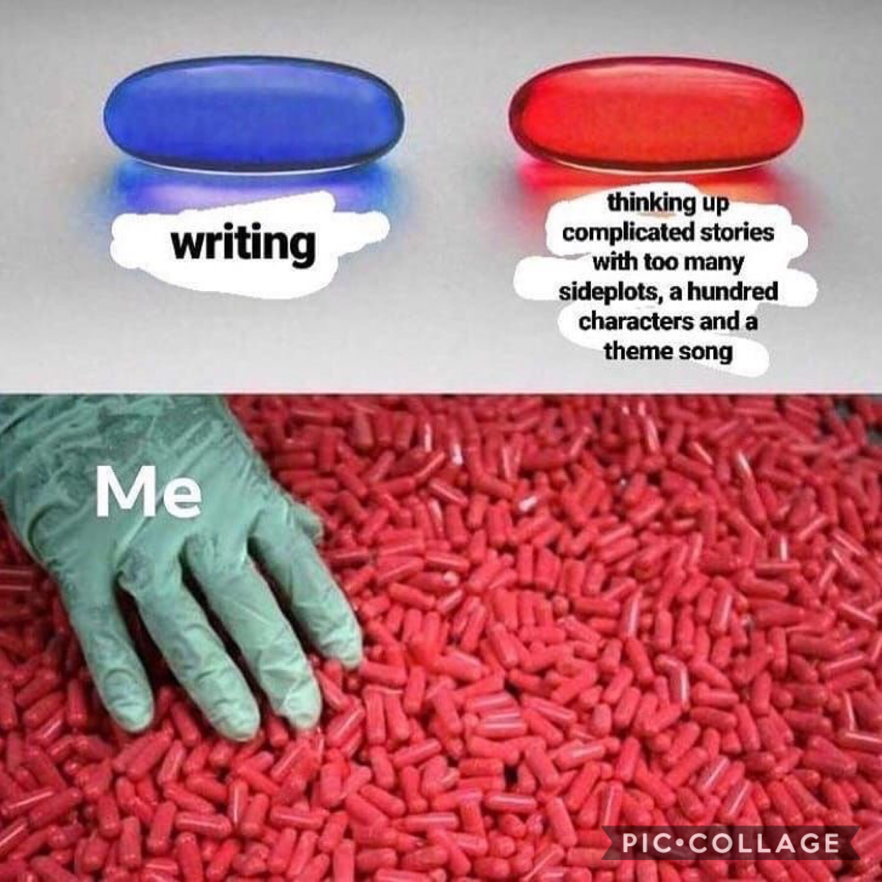 Me me me me absolutely me I have sooooooo many story ideas that are actually decent but have so many plotholes and such it's annoying