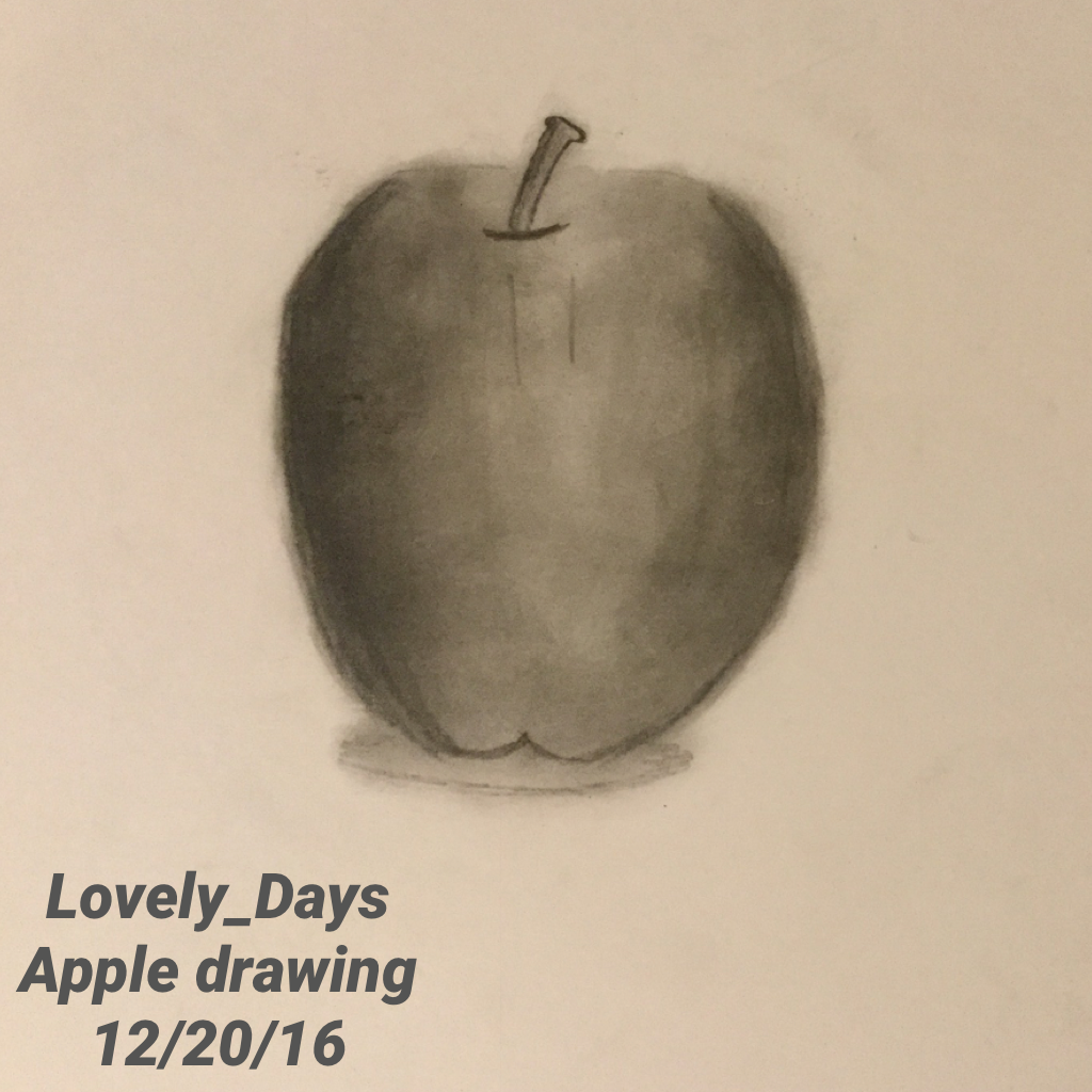 Lovely_Days Apple drawing  12/20/16