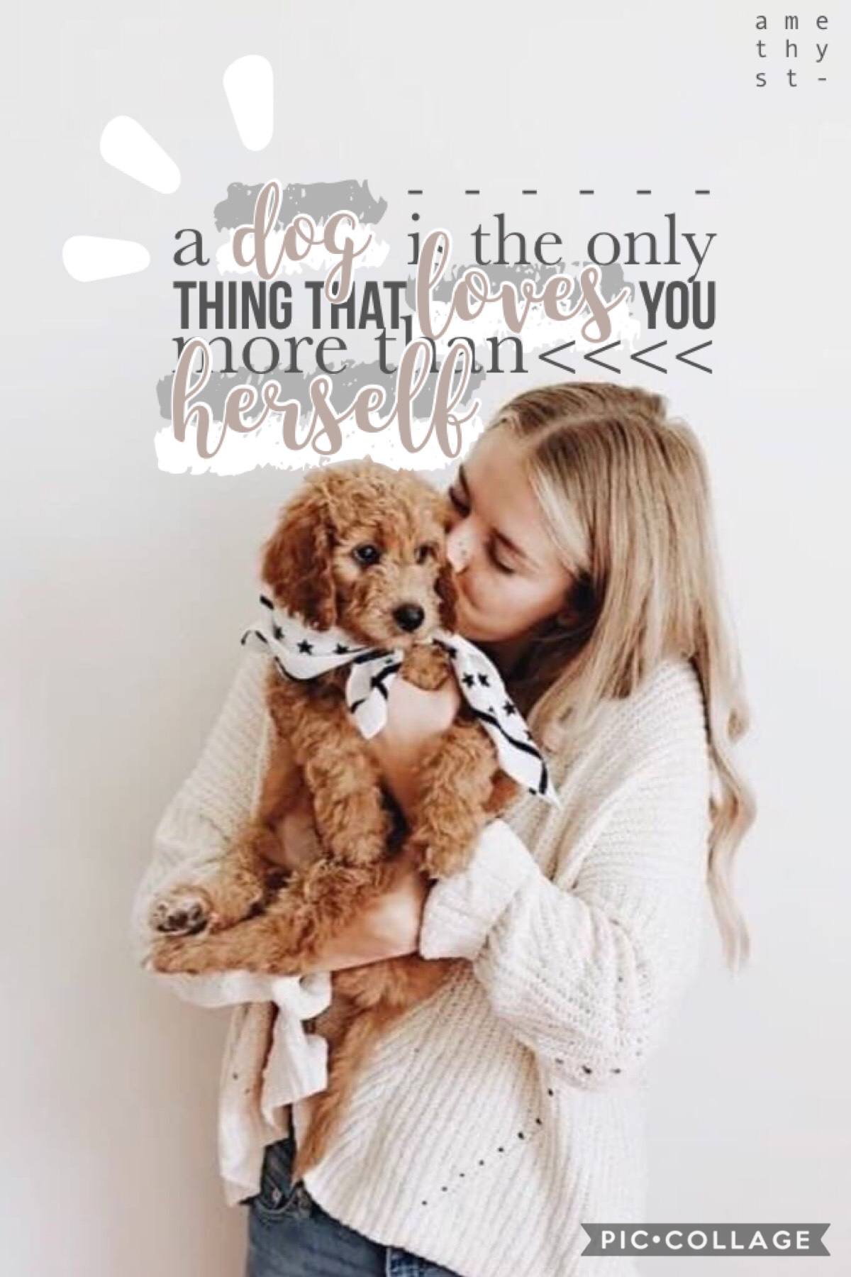 "Yup, I changed this quote! It originally was ""a dog is the only thing that loves you more than himself"" but I changed it to HERSELF! #GirlPower 💪👩💪😂 QOTD: any pets? AOTD: yup, two dogs and a cat 🐶🐱"