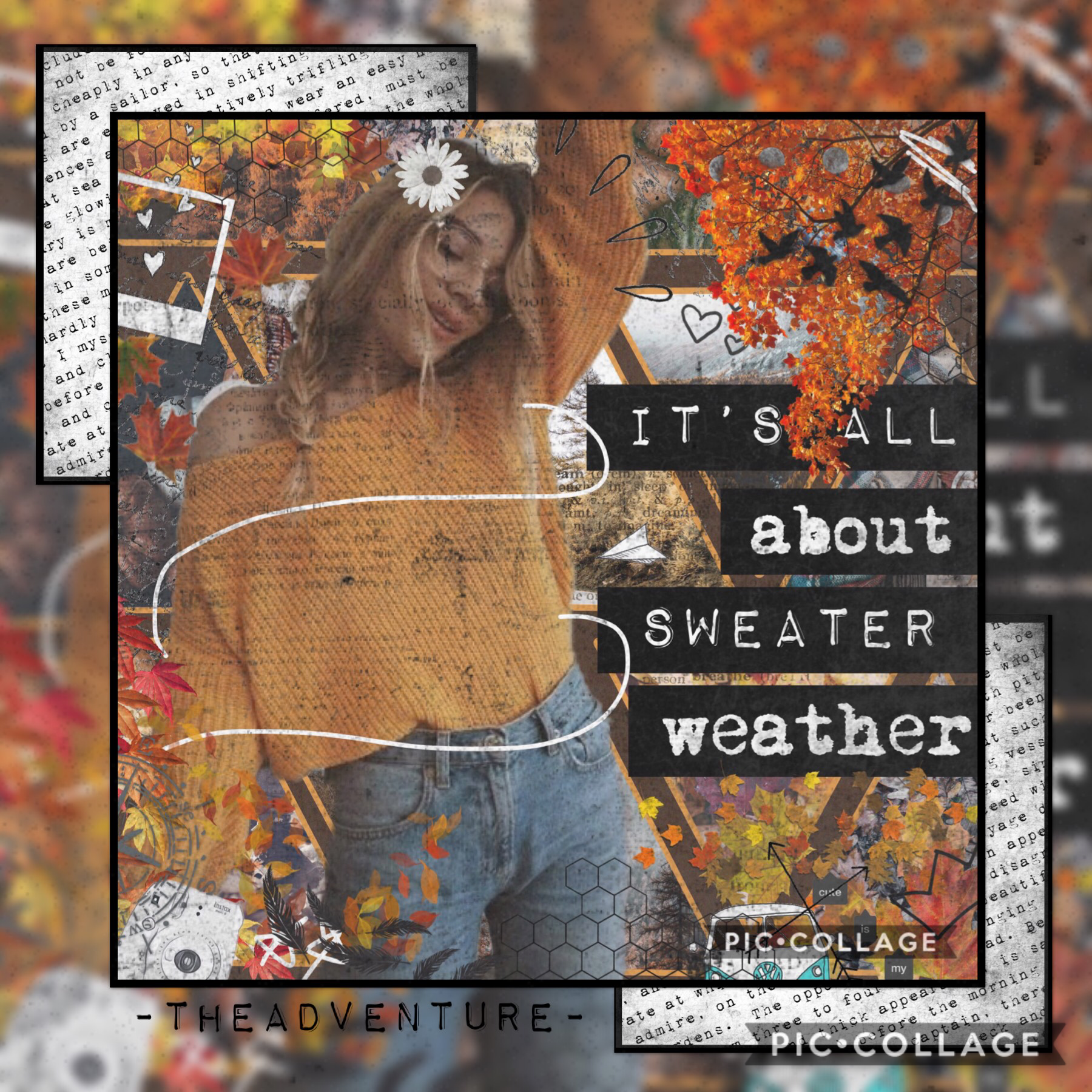 Another Fall collage!❤️🍁🍂🍁🍂🍁❤️ I've done so many of these😂😂 but I love fall! Especially that sweater weather 🧦🧤😆