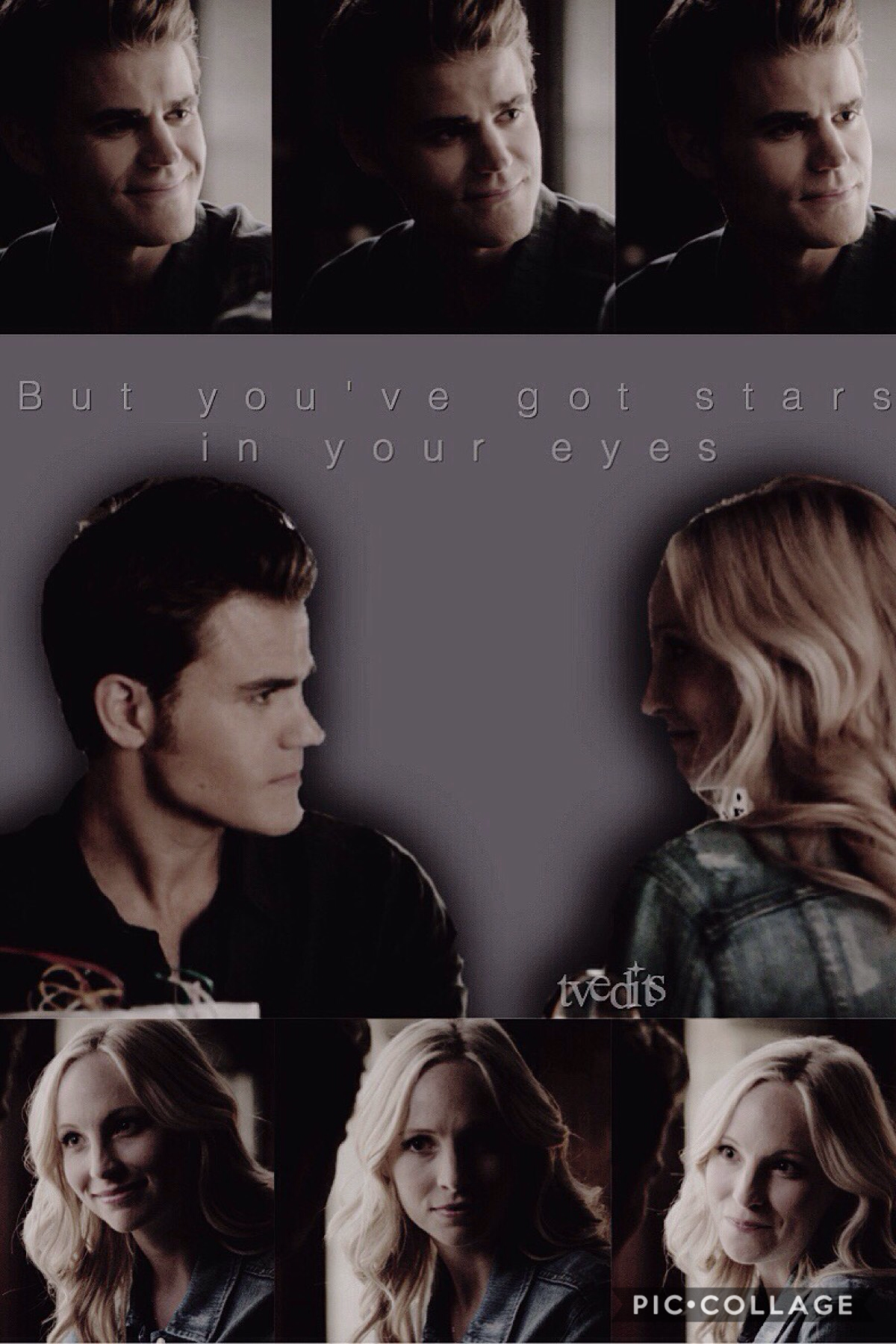 "Tap me! Here we go! third times a charm😂oml I was trying to post an edit I was like hella proud of but PC was being a little pain in the🍑and making it ""post pending"" so it wasn't meant to be Steroline back to back. So you can thank PC for that. Anyways I"