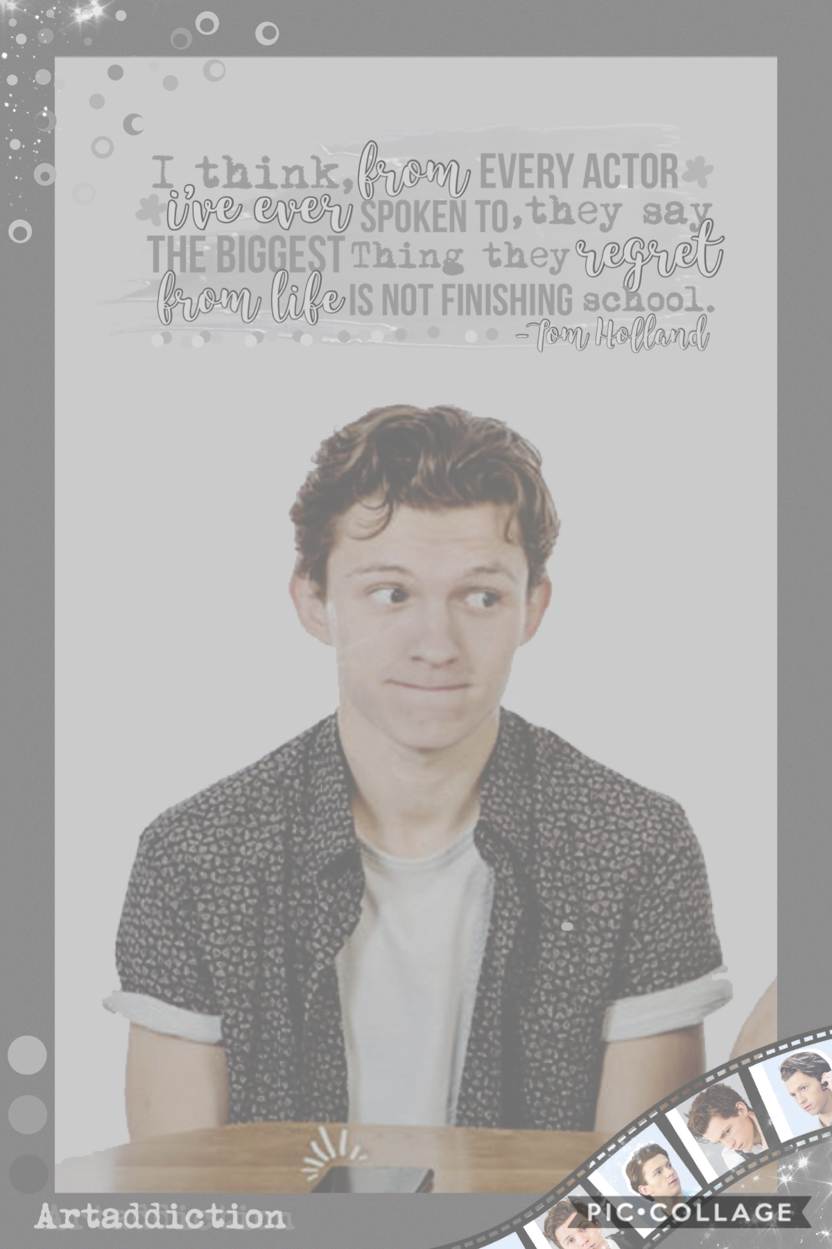 So here's the recommended celeb with most votes , Tom Holland, I know it's a bit simple but hope u like it 😅🤗 next up is soffie
