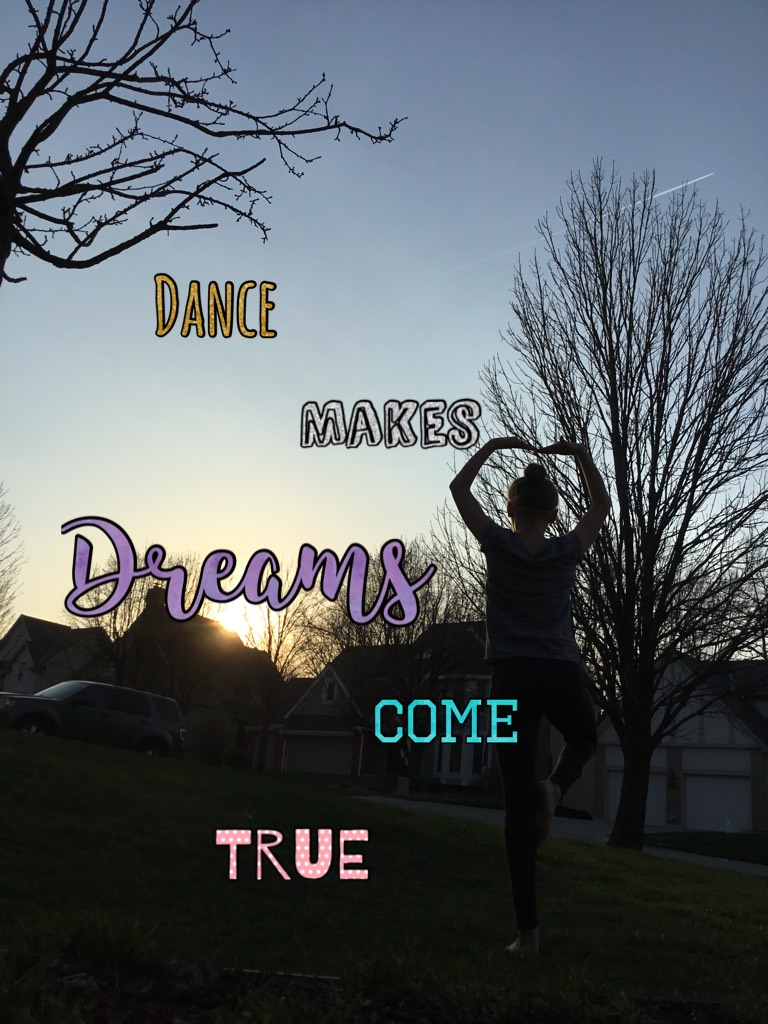 I love dance it's such a fun thing to do