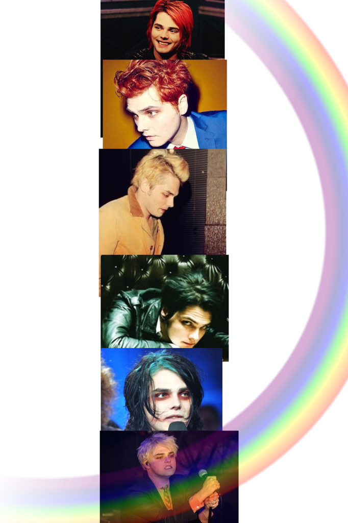 Gerard Way Rainbow!!! Happy Birthday Gerard!!!