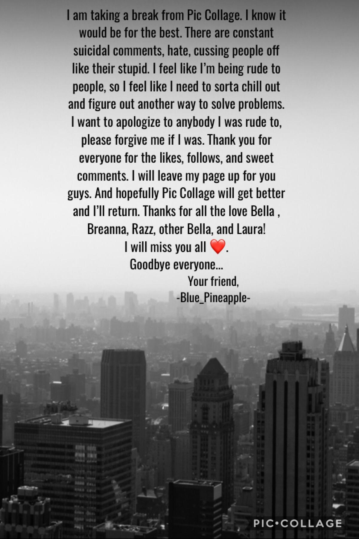 I'll miss you all ❤️