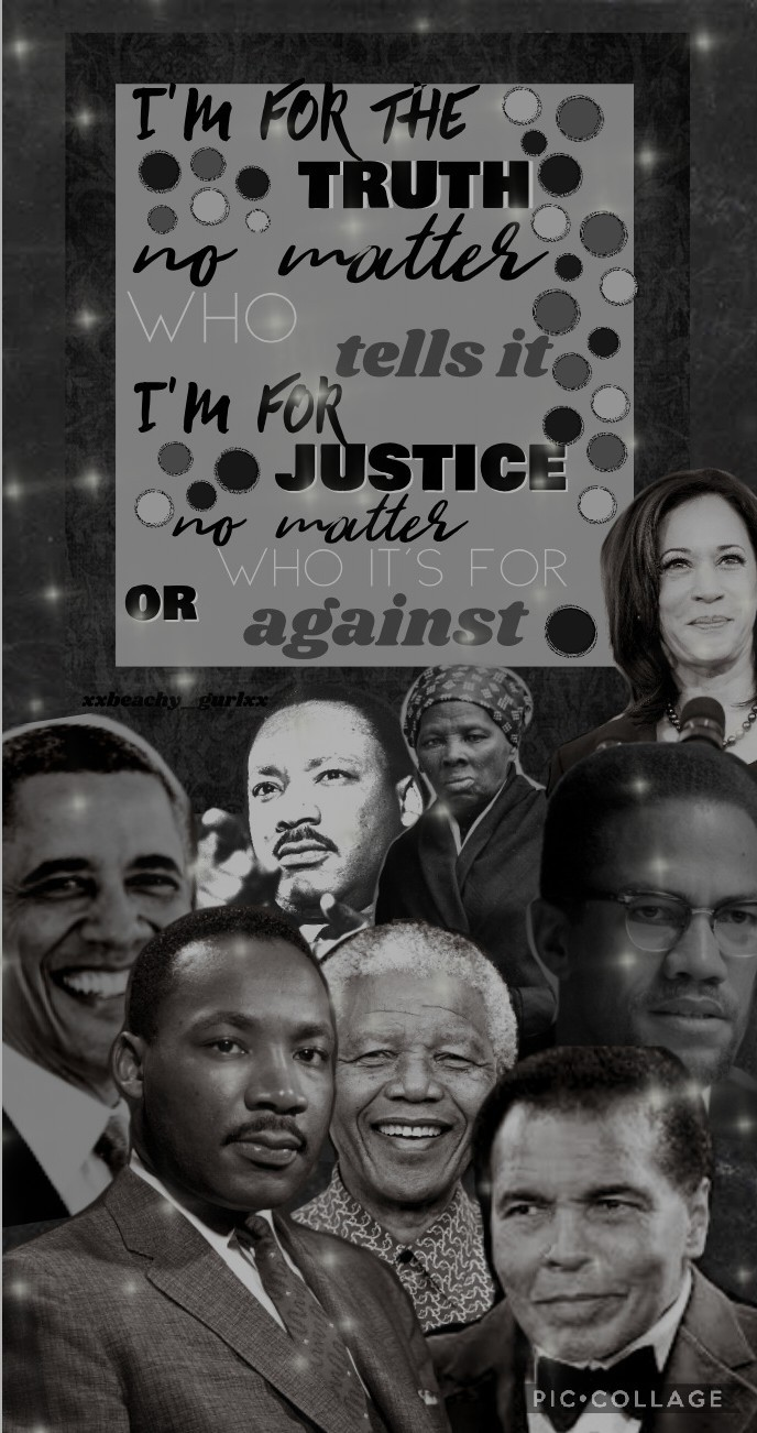 ✊🏿2/25/21✊🏿 Black history month collage! I rlly love how this looks but I think it could have some more details! Lmk what you think of it and what I should add! Qotd: Who inspires you the most in black history? Aotd: I've got to say EVERYONE! But mostly M