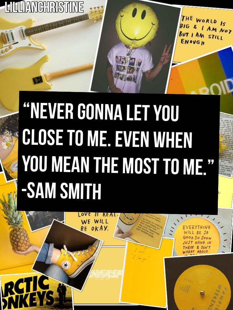 Sam Smith//yellow aesthetic