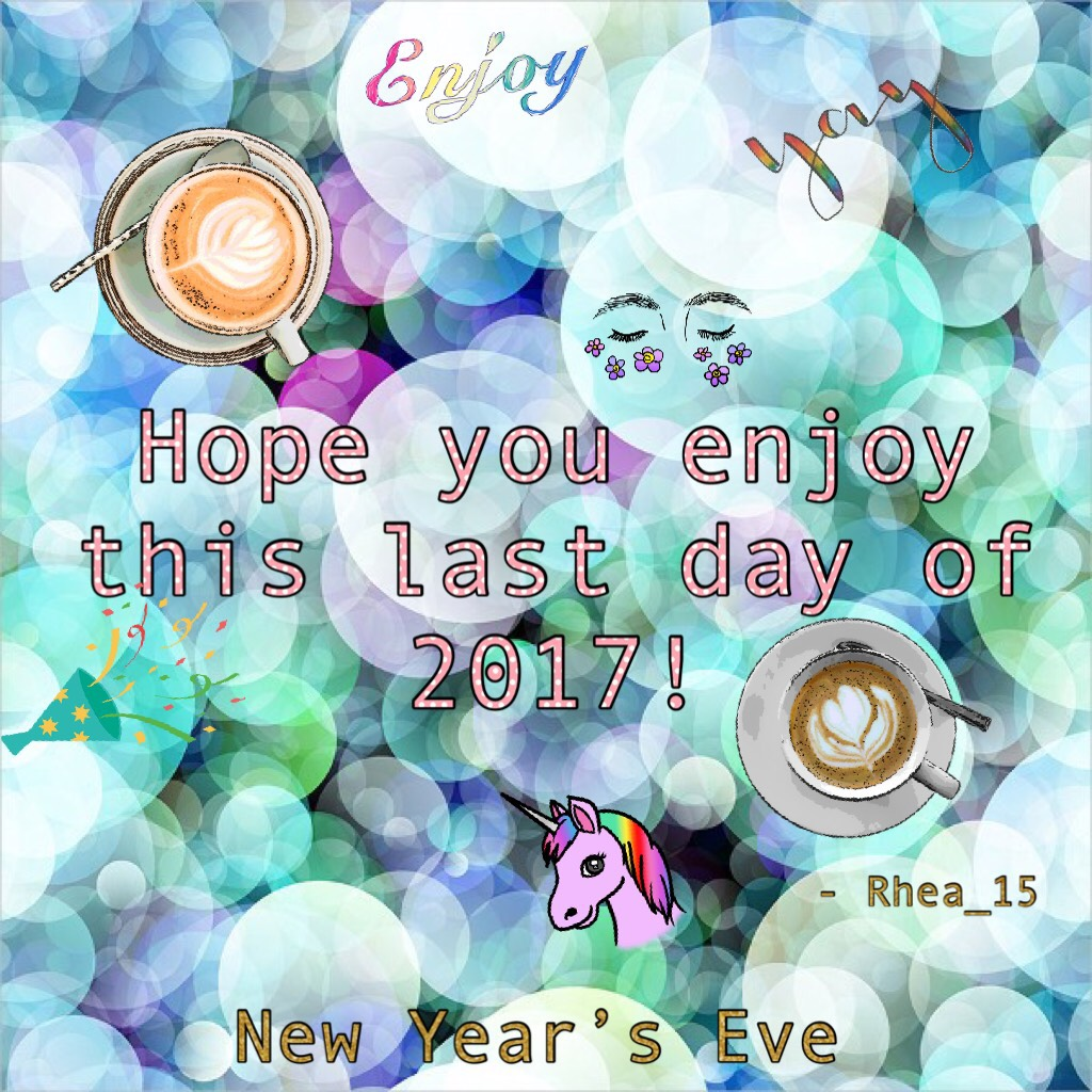 🎉 Tap 🎊 ~31-12-17~ 🎈 The last day in 2017! 👋 🎈 🤩Hope you had a great year  and will have one next year too! 🤩 Bye year of the rooster 🐓  Last collage this year