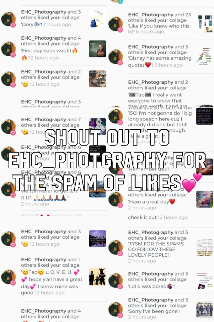 Shout out to EHC_Photgraphy for the spam of likes💕