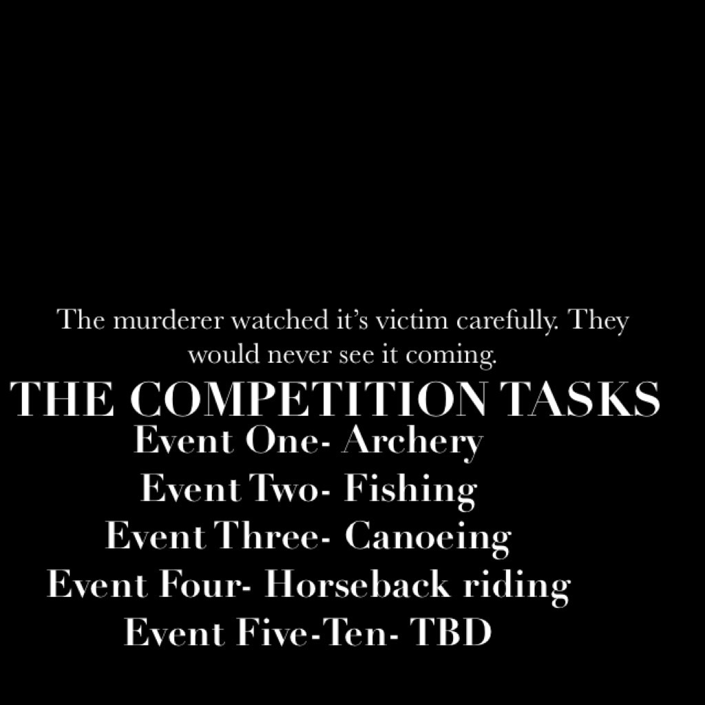 THE COMPETITION TASKS