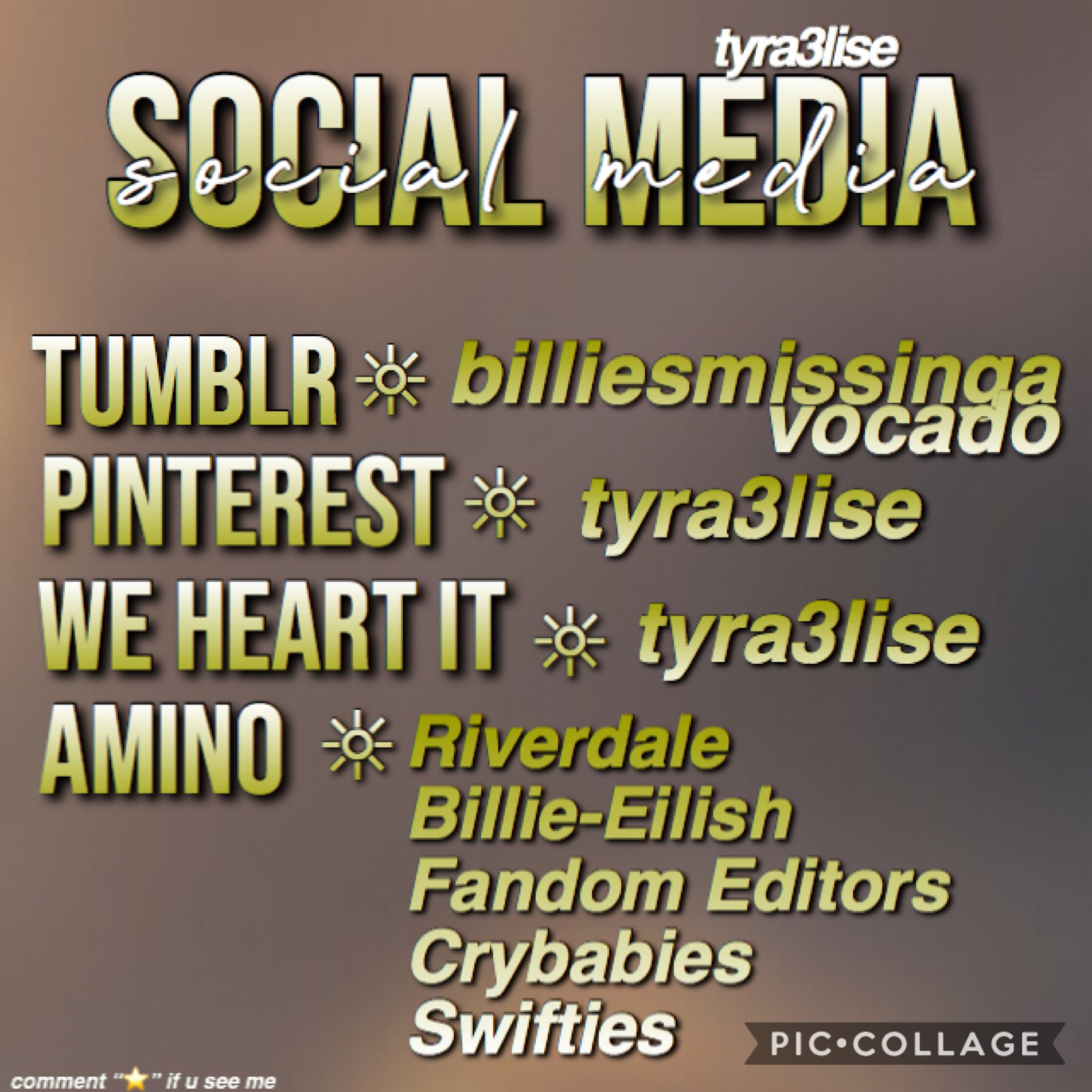 here are some of my social media platforms I have uwu