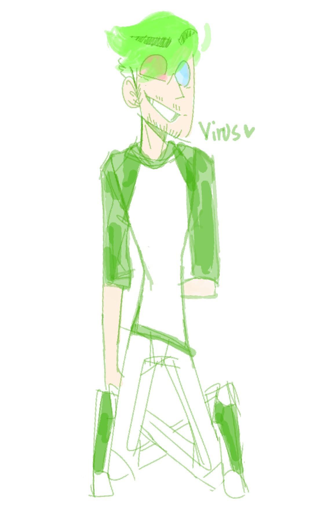 -virus is back! He's the anti version of goop! (dark or something)-