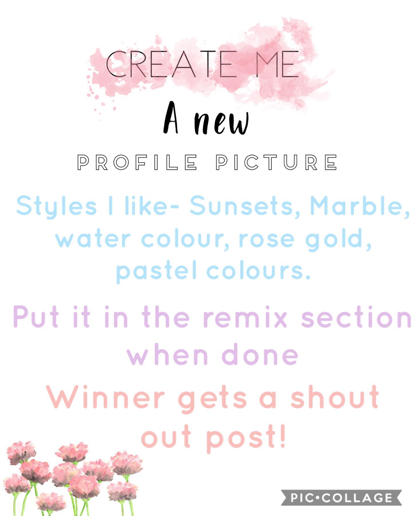 Create me a new profile picture!