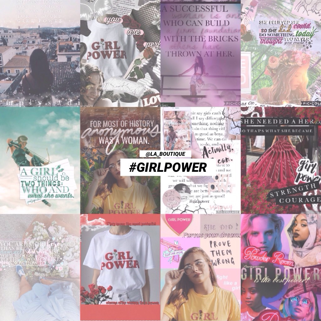 """#GirlPower 💓 [CLICK] This is a little """"put-together"""" of a few of the many wonderful #GirlPower collages made by other users !! Wish I could've fitted them all in, but unfortunately I couldn't 🌷☀️ Thanks so much everyone xx"""