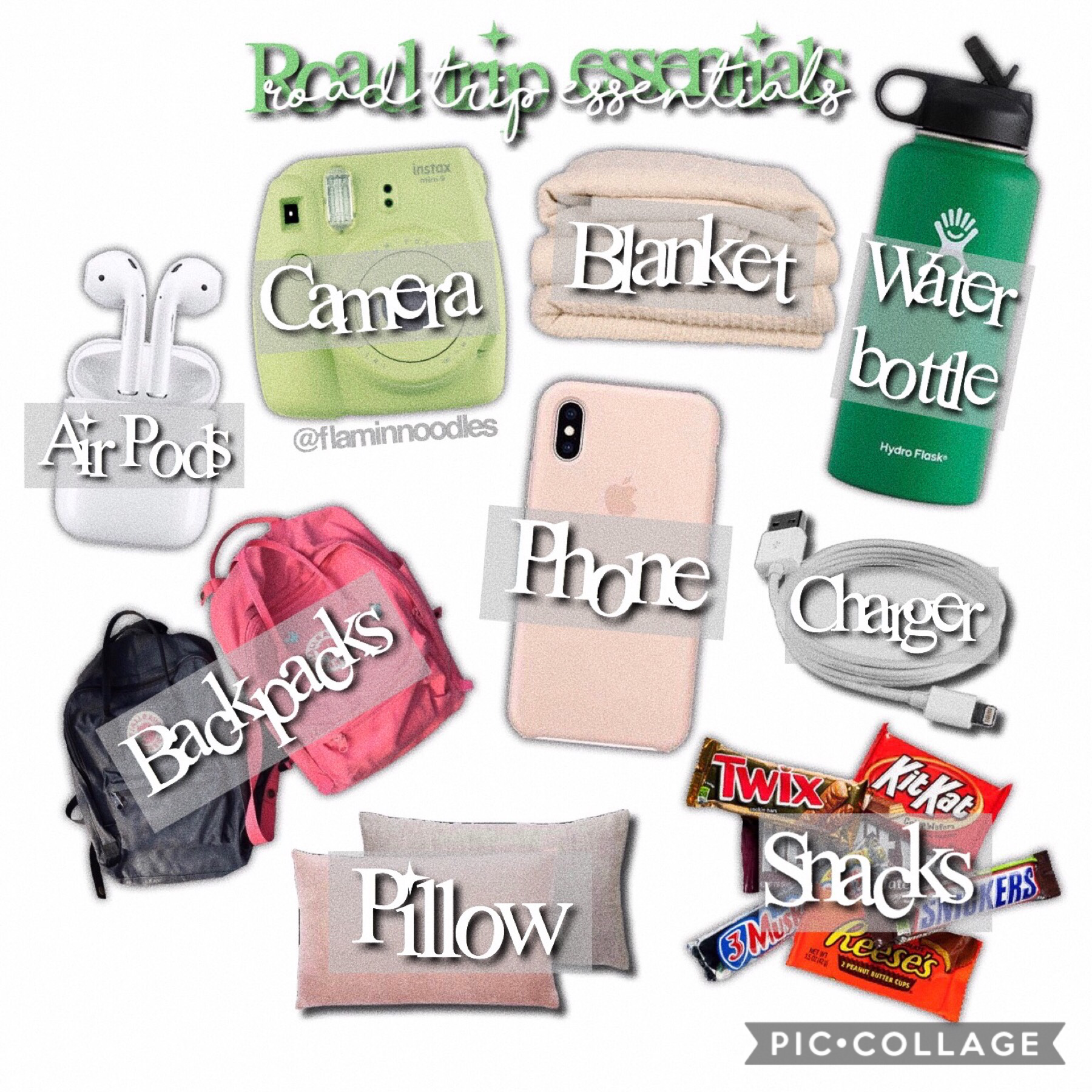 🍃☁️ Tap ☁️🍃 ~ 6/28/19 Hi srry for the late post I honestly forgot ab it lol and I literally just made this one today :) I tried keeping a green theme...but as you can see it didn't work 😂 ~ Qotd: what would you bring on a road trip?