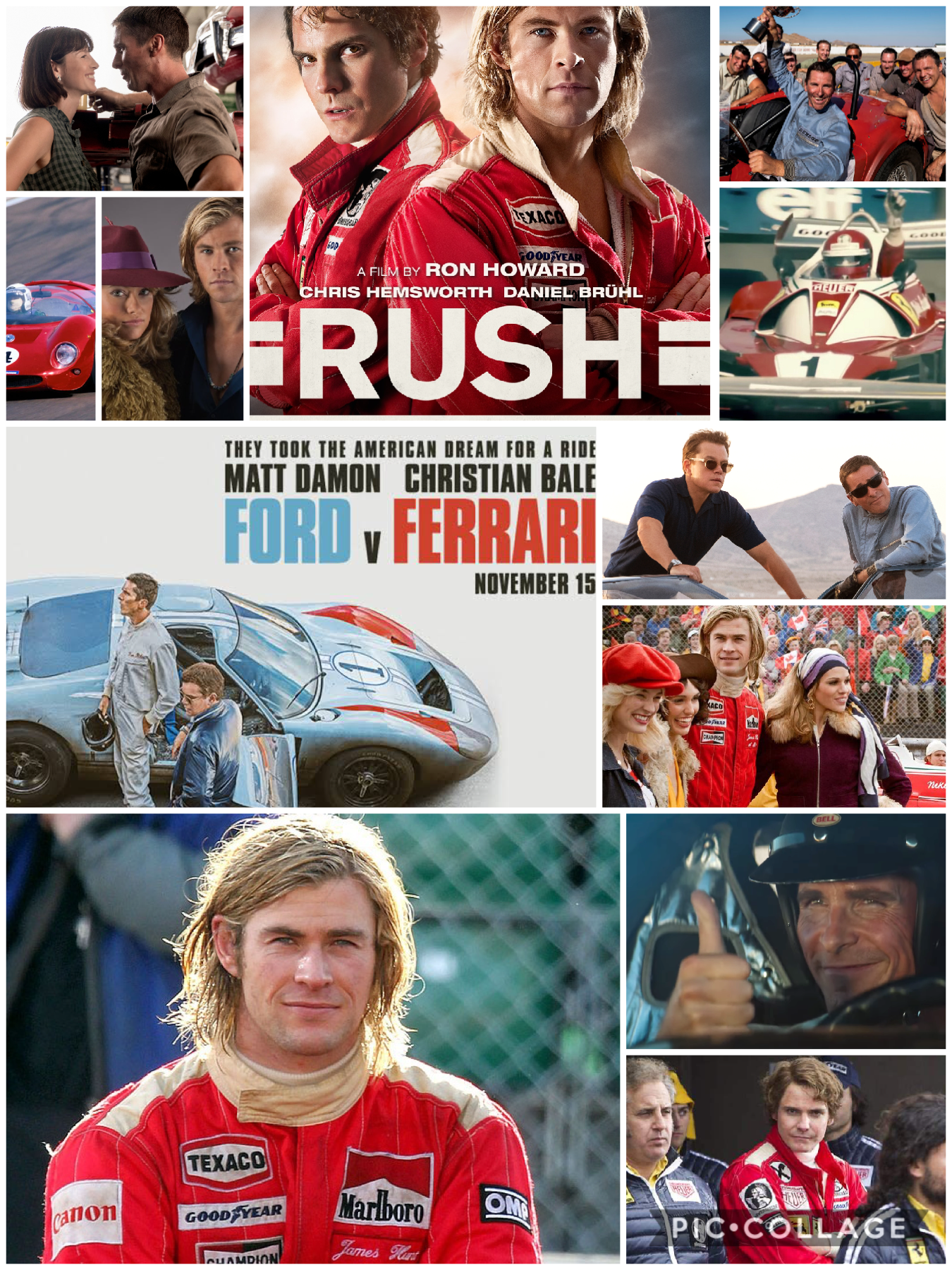 Ford V a Ferrari and Rush