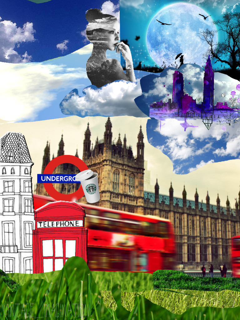 Pconly vintage London style collage. This took me ages!!!! 😭😂 Rate 1-10 would be nice 😝