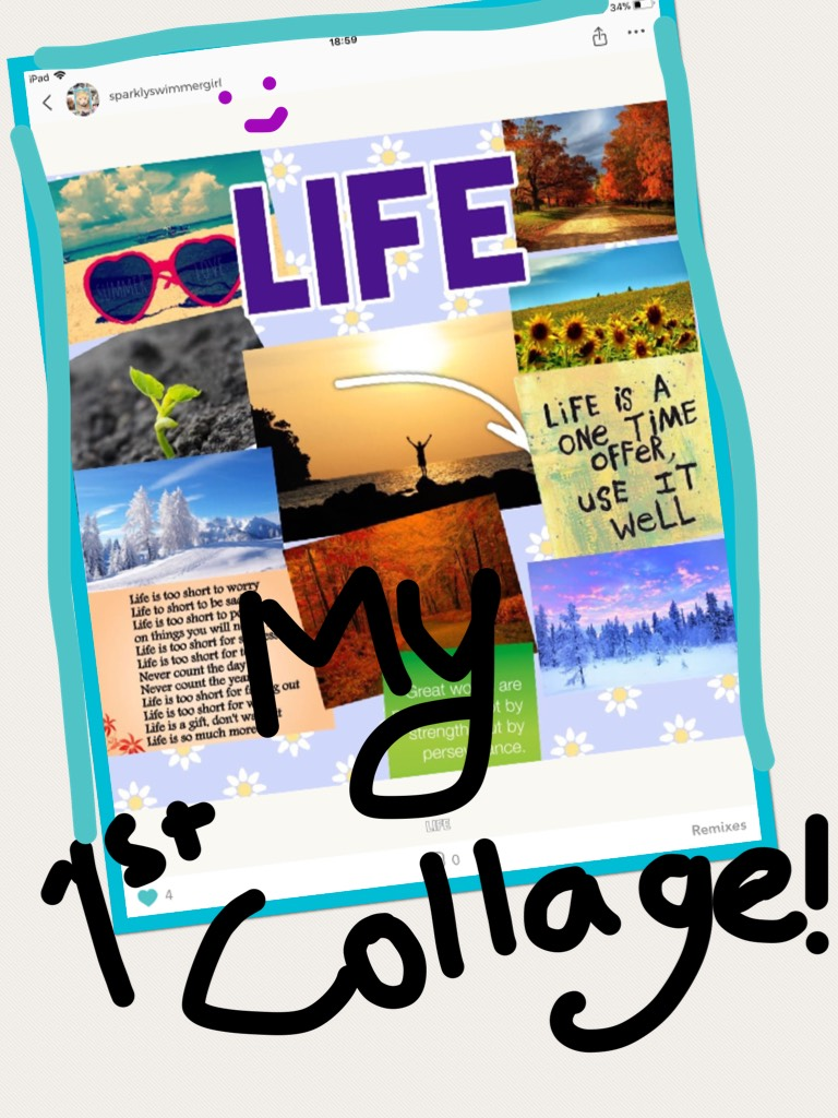 My first ever collage