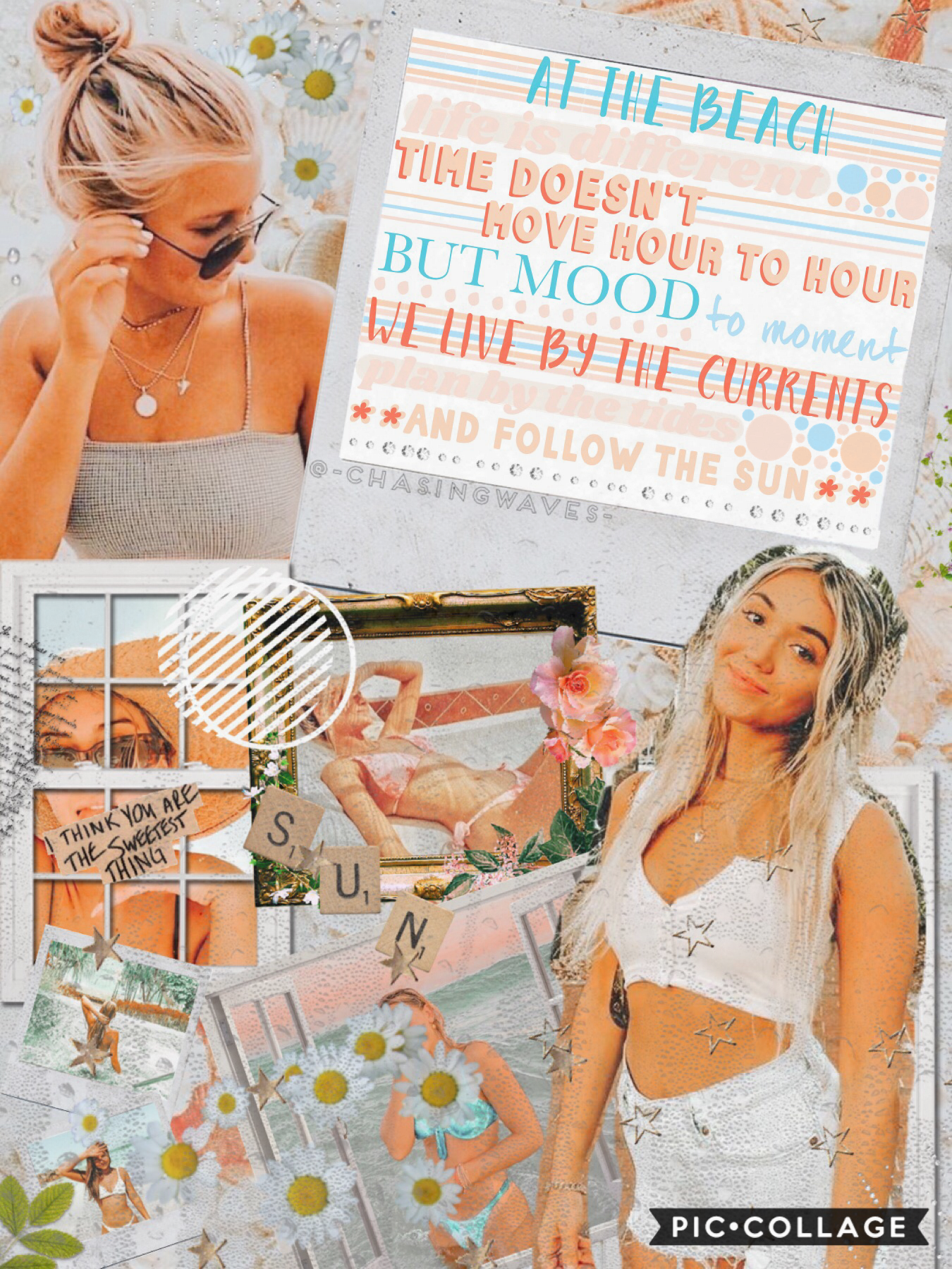 Tap As promised, here's the monthly collage for this account! I think I'm going to use this account to post beach/summer collages and peachy collages because they're the collages that don't fit on my main and I really like the two!