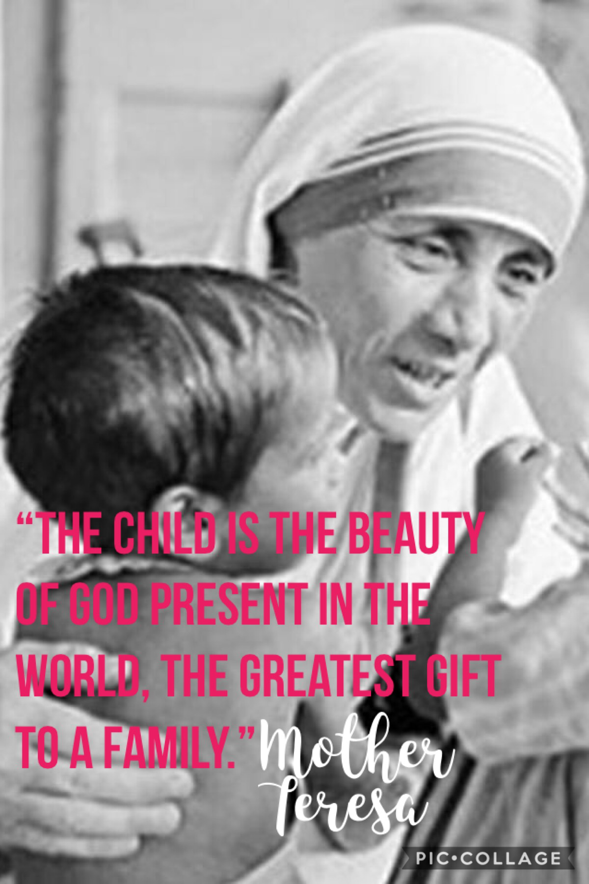 🌻Children and Mother Teresa=❤️❤️❤️