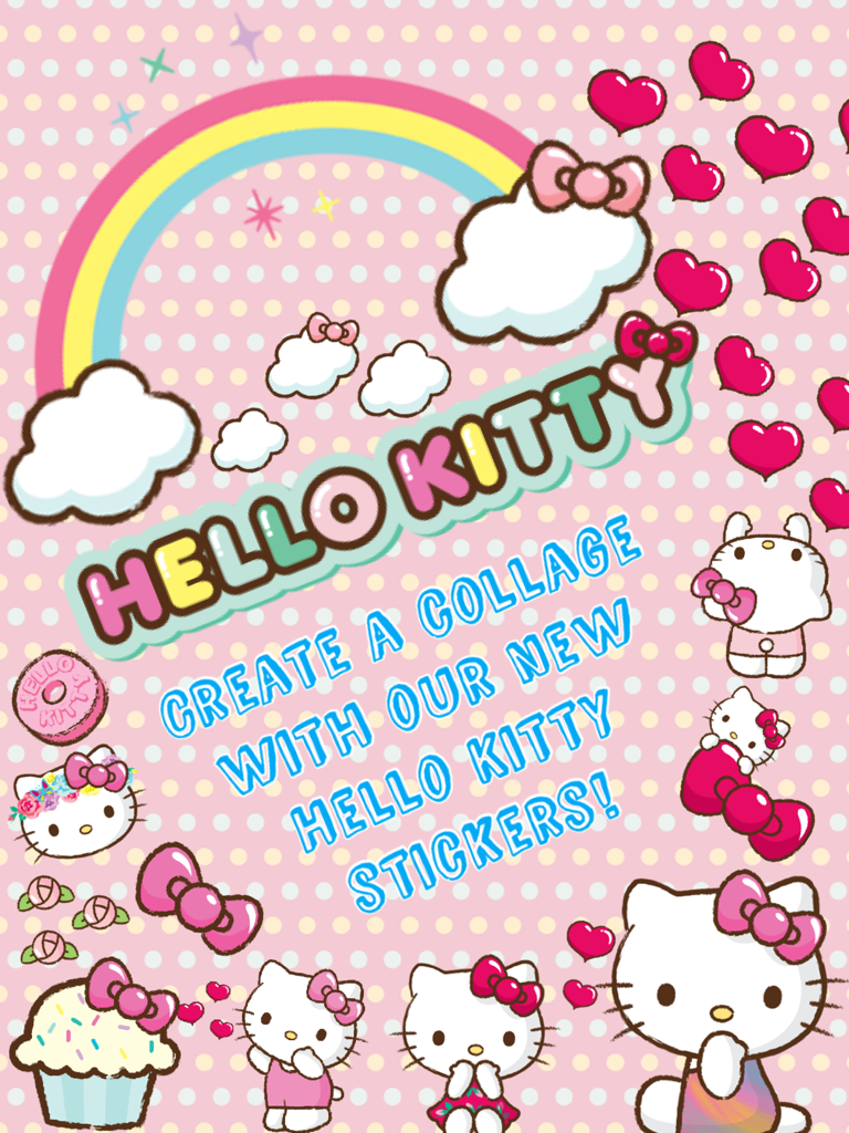 create a collage with our new hello kitty stickers
