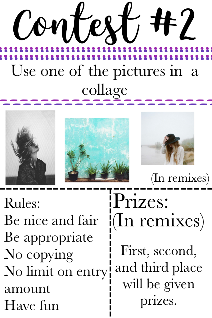 Click Pictures will be in remixes along with prizes! Have fun!