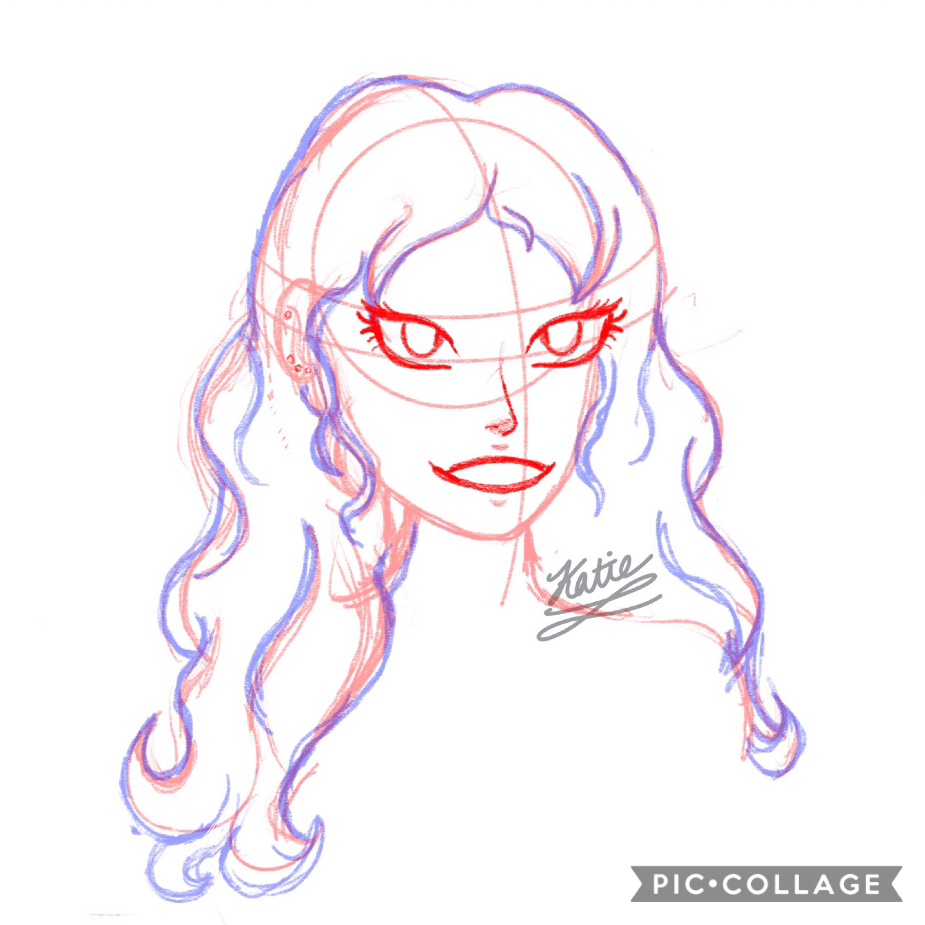 quick 5-10 minute sketch-  yay you actually tapped! here's a really quick sketch that's about to be ruined by lineart lol not my best, but I still like it? I think? ignore the bad proportion lines tho lol. prob going to take this down soon.