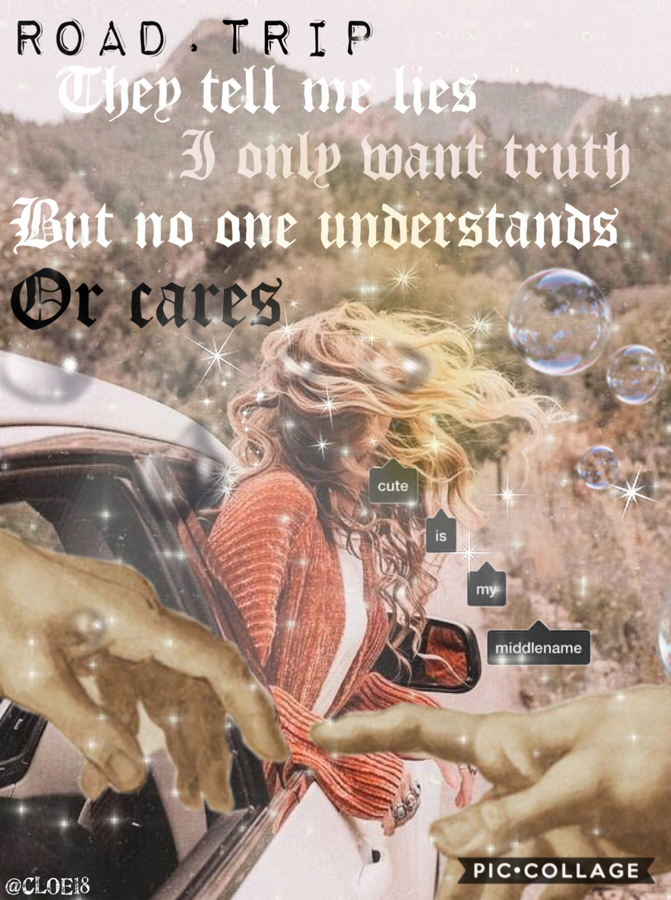 🔴TAP🔴  Sometimes you need to loose something to care this collages is for those people who claim they don't care about anyone or anything, I know ur lying everyone cares at some point.  -Cloe18😉